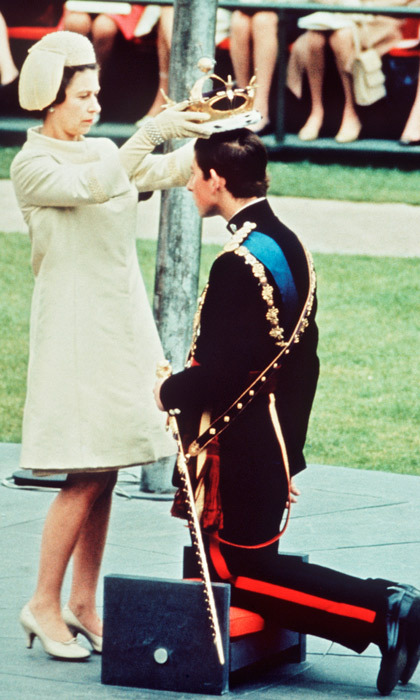 "COMING OF AGE, 1969: In July 1969, Prince Charles was invested as the Prince of Wales at Caernarfon Castle, promising to be the Queen's ""liege man of life and limb."" Charles, 20, had earlier taken time from his studies at Cambridge to spend a term at the