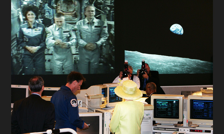 SPACE ODYSSEY, 2007: On a visit to a NASA base in Maryland, the Queen spoke with three astronauts who were 400 km above the Earth in the International Space Station.