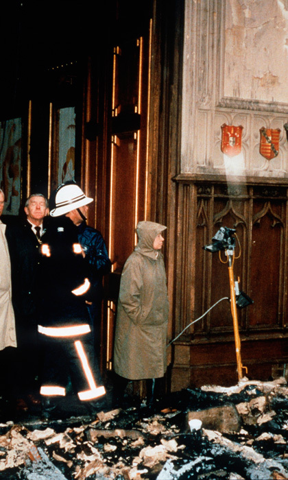 ANNUS HORRIBILIS, 1992: This was one of the Queen's most difficult years. By the time fire had torn through Windsor Castle in November, she had seen her daughter Anne divorce and her son Andrew separate from Sarah. Nine months later, Charles and Diana also separated. Anne's second marriage later that year was a welcome respite from the domestic storms.
