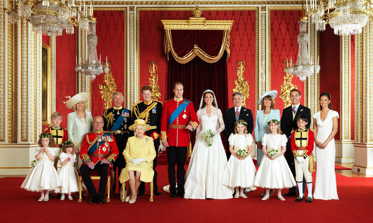 "WELCOME TO THE FIRM, 2011: Guiding Prince William and Kate through their wedding day preparations, the Queen was able to put their minds at ease on a number of issues, including the guest list. ""Start with your friends first and then go from there,"" she told the worried groom-to-be. The newly extended Royal Family poses for an official portrait on April 29, the couple's wedding day.