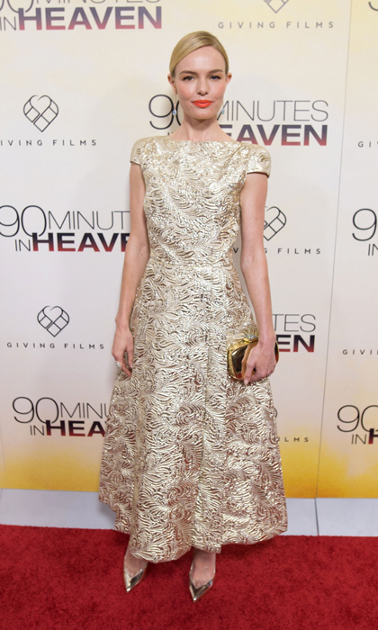Kate Bosworth shone bright at the '90 Minutes in Heaven' premiere in a look by Schiaparelli Couture. 