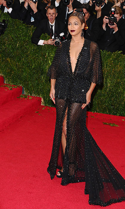 Mixing old glamour and new in Givenchy at the 2014 Met Gala.