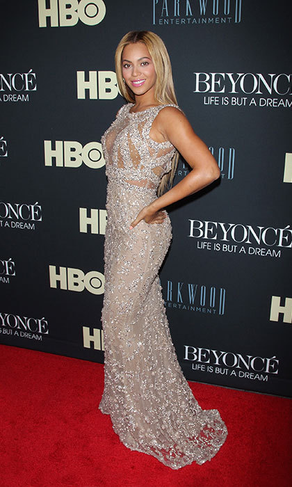 Stunning in sparkles at the premiere of her HBO documentary, 'Life is but a Dream.'