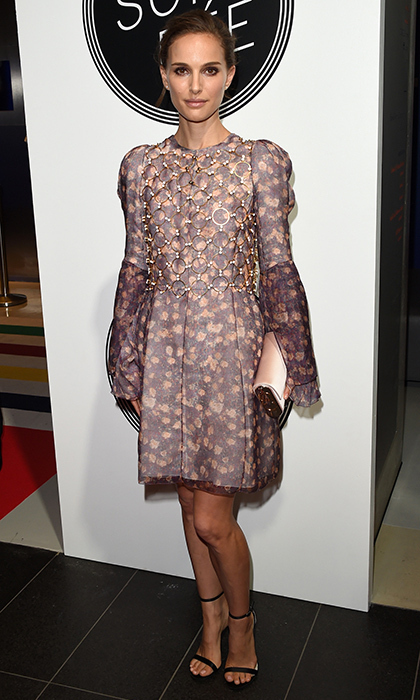 Dior darling Natalie Portman kicked off the festival in a stunning patterned number by the French fashion house. 