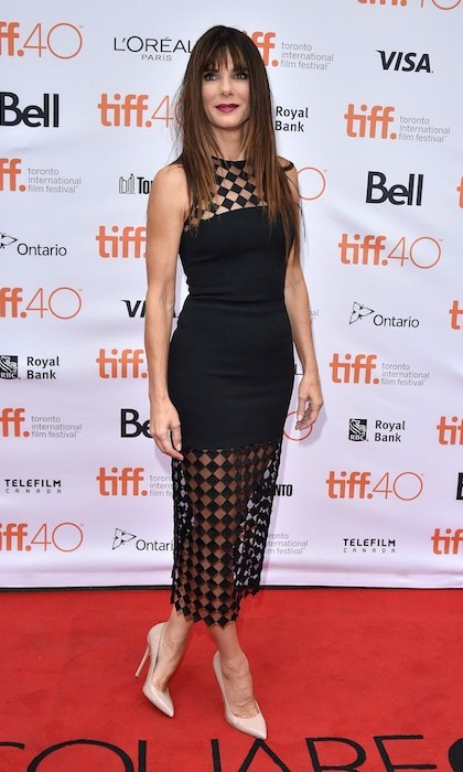 'Our Brand is Crisis' leading lady Sandra Bullock knocked it out of the park in a sexy creation by David Komo. 