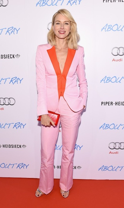 Naomi Watts keeps cool in pink Vionnet at the premiere of 'About Ray.'