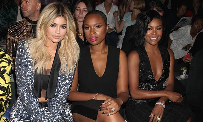 Kylie Jenner, Jennifer Hudson and Gabrielle Union at Prabal Gurung.