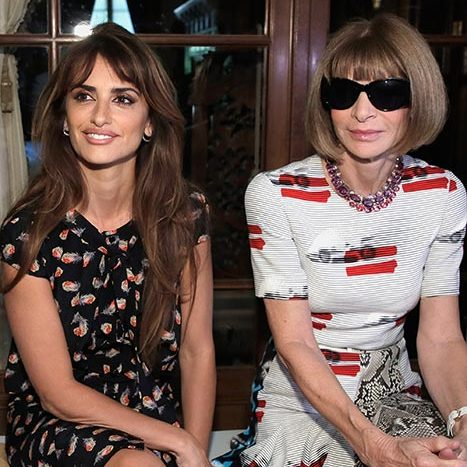 Penelope Cruz and Anna Wintour at Carolina Herrera.