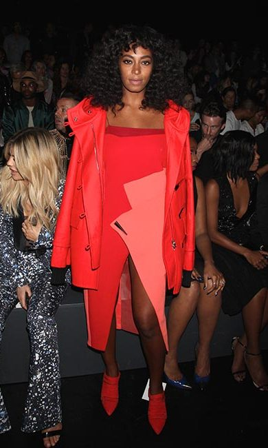 Solange Knowles at Prabal Gurung.