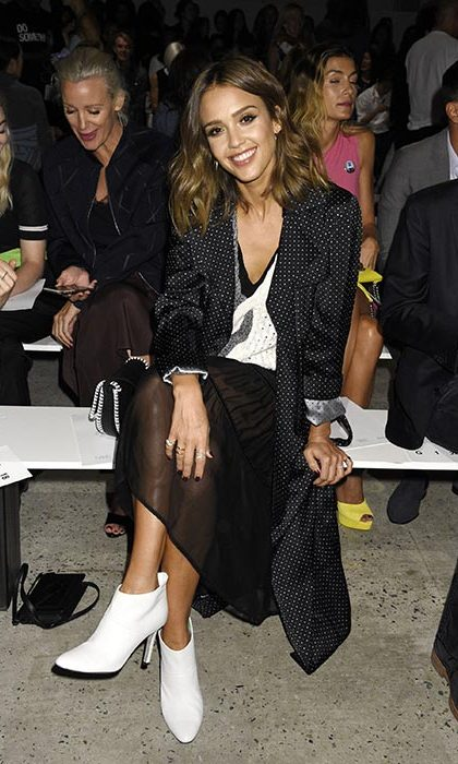 Jessica Alba at Thakoon.