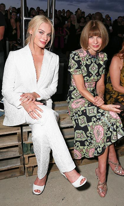 Margot Robbie and Anna Wintour at Givenchy.