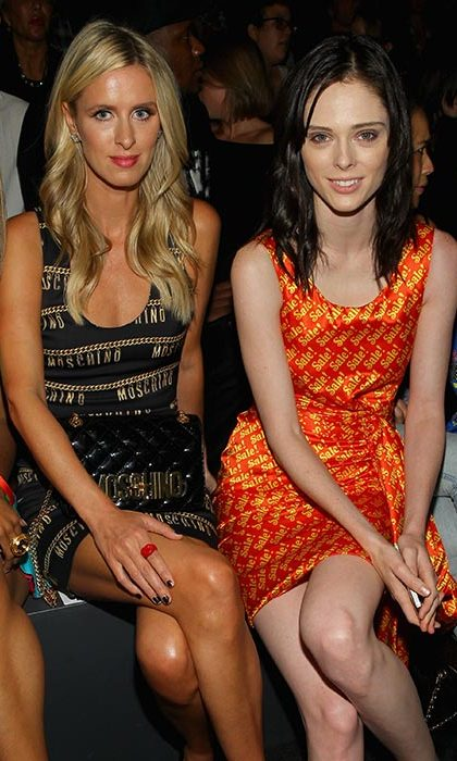 Nicky Hilton Rothschild and Coco Rocha at Jeremy Scott.