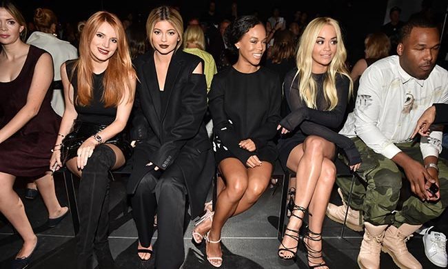 Bella Thorne, Kylie Jenner and Rita Ora at Vera Wang.
