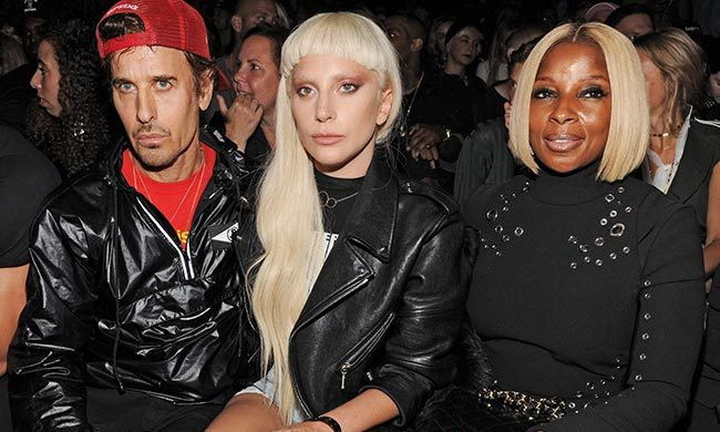 Steven Klein, Lady Gaga and Mary J. Blige at Alexander Wang.