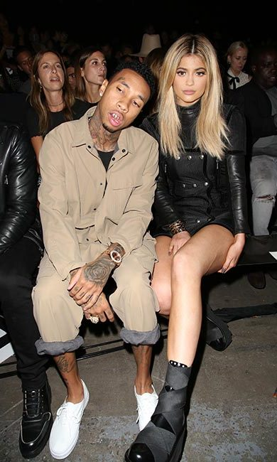 Kylie Jenner and Tyga at Alexander Wang.