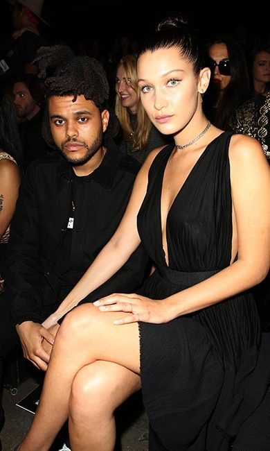 Bella Hadid and the Weeknd at Alexander Wang.