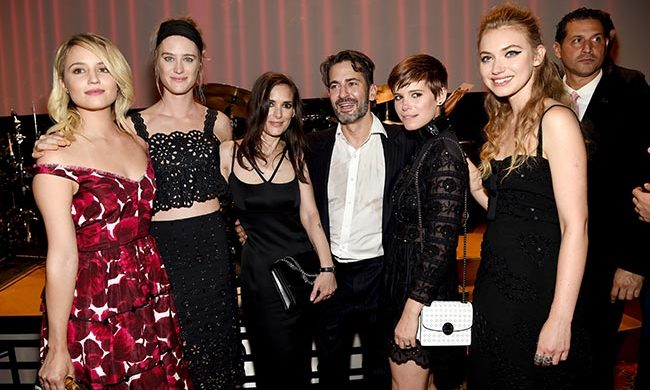 Marc with Dianna Agron, Winona Ryder, Kate Mara and guests.