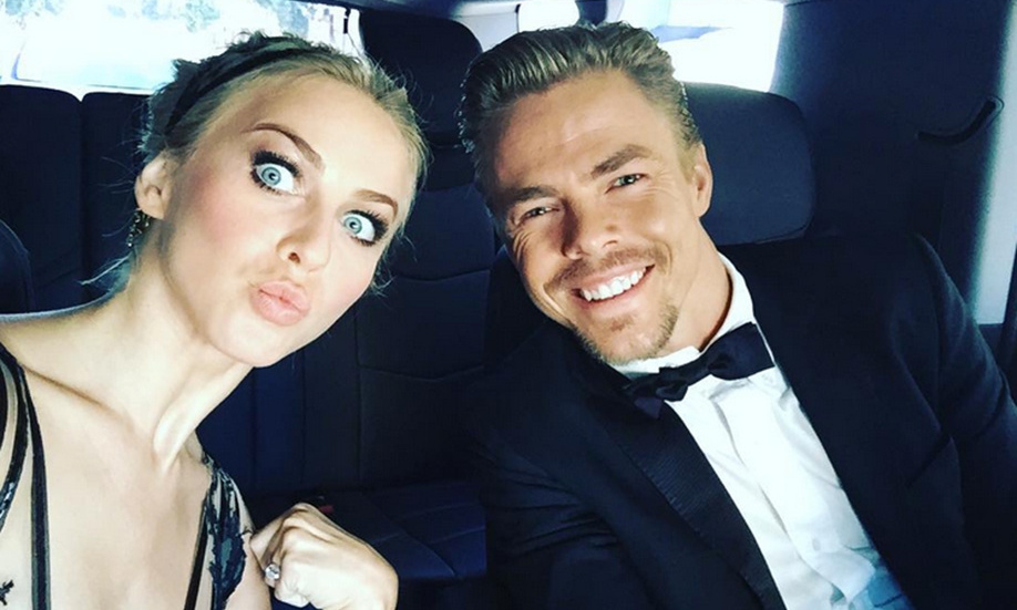 "@juleshough ""I love my ever consistent Emmy date! @derekhough love you ❤️""