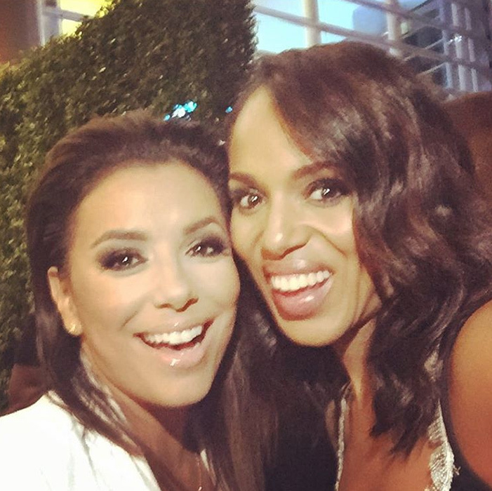 "@kerrywashington ""My sister from another mother. Love you hermana @evalongoria. #Emmys""