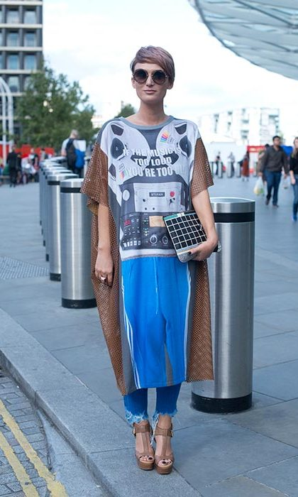 Street style from London Fashion Week.