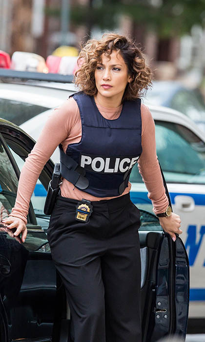 'Shades of Blue' star Jennifer Lopez hits the streets in New York City. The mom of two is filming the police procedural in between seasons of 'American Idol.'