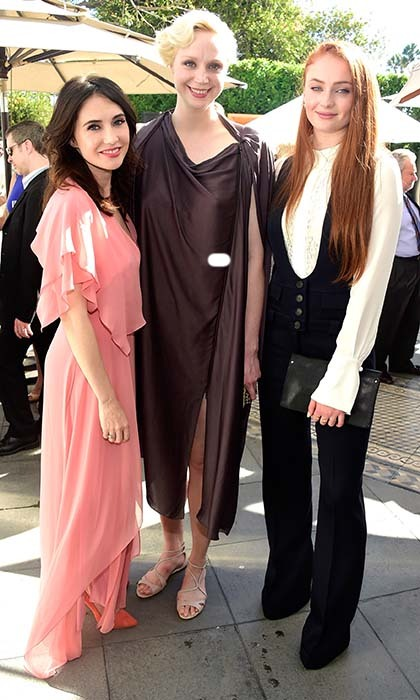 The ladies of 'Game of Thrones,' Carice van Houten, Gwendoline Christie and Sophie Hunter, go glam at the BAFTA Los Angeles TV Tea party. 