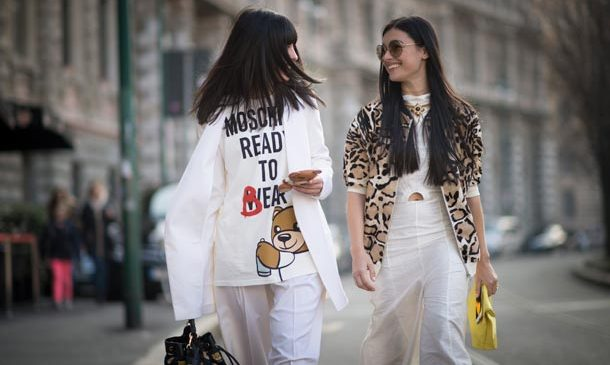 Street style at Milan Fashion Week.