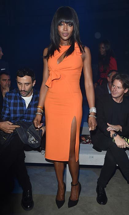 Naomi Campbell at Versace.
