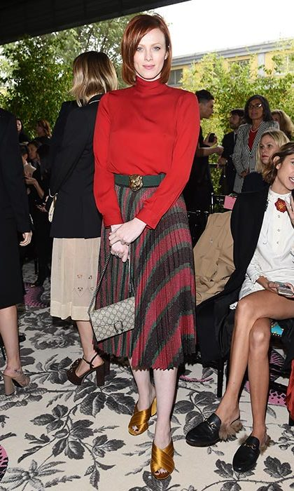 Karen Elson at the Gucci show.