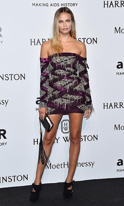 Natasha Poly at the amfAR gala.