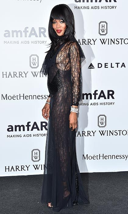 Naomi Campbell at the amfAR gala.