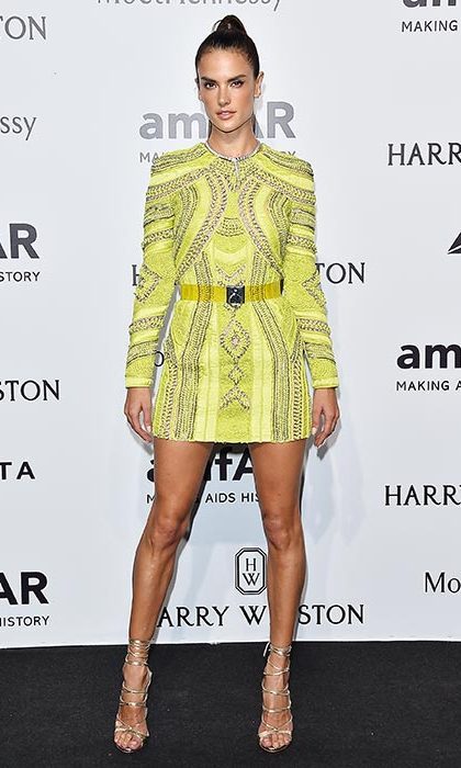 Alessandra Ambrosio at the amfAR gala.