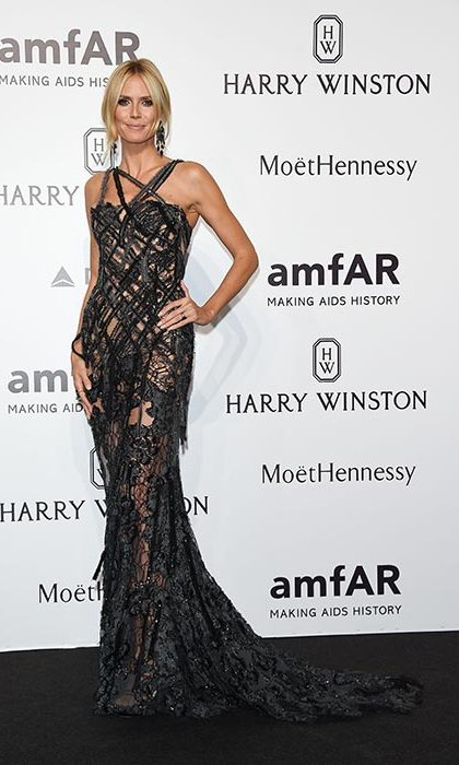 Heidi Klum at the amfAR gala.