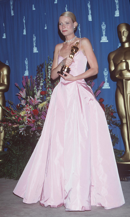 The pale-pink taffeta ball gown that Gwyneth Paltrow wore to the 1999 Oscars is one of Ralph's most unforgettable creations. 