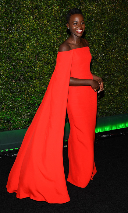 Instant classic! Back in 2014, Lupita Nyong'o was the newest style queen on the block and she quickly proved her sartorial prowess by wearing Ralph's fiery red caped column gown to the Golden Globes. 