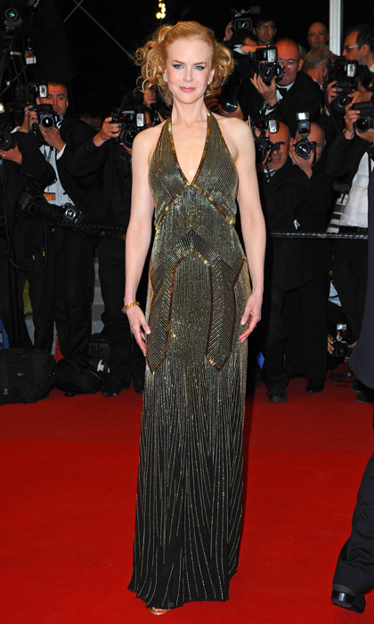 Red carpet maven Nicole Kidman showed off her statuesque beauty in a beaded, Art Deco halter gown at the Cannes Film Festival in 2012. 
