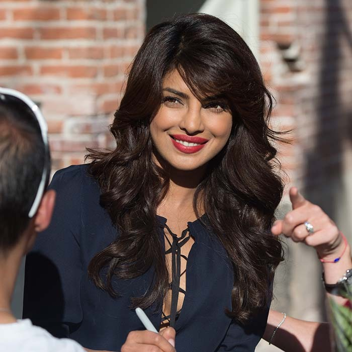 Bollywood-turned-Hollywood actress Priyanka Chopra drops by 'Jimmy Kimmel Live' to promote her new hit drama 'Quantico.'