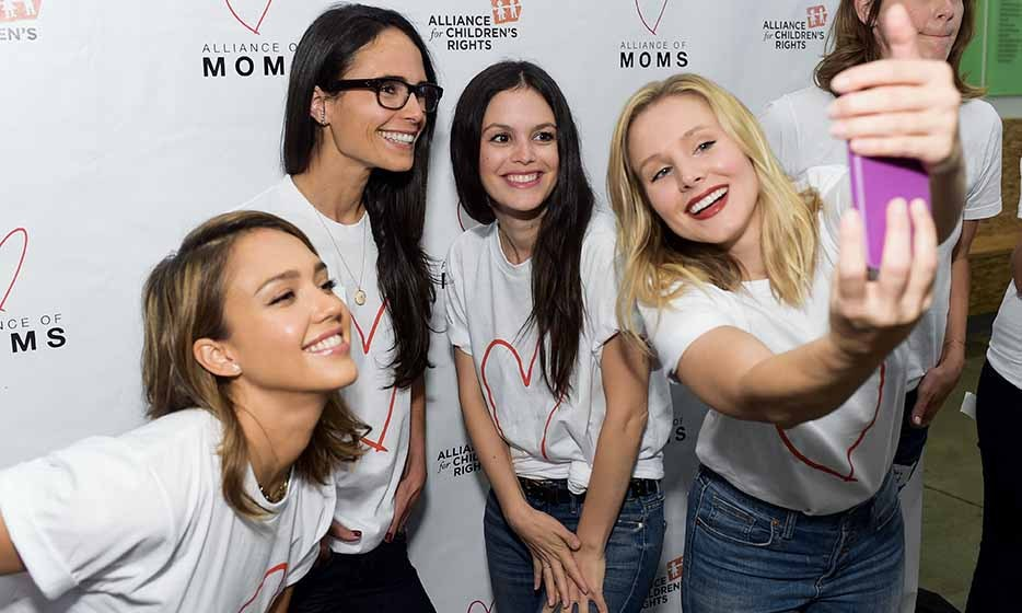 Power moms Jessica Alba, Jordana Brewster, Rachel Bilson and Kristen Bell band together at the Alliance of Moms Presents Raising Baby event in Los Angeles.