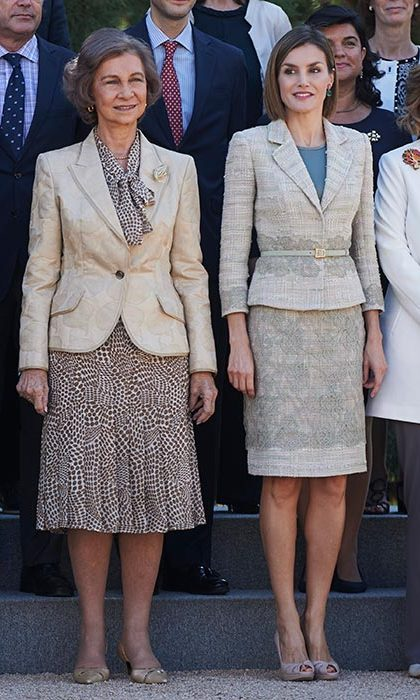 Queen Sofia and Queen Letizia of Spain