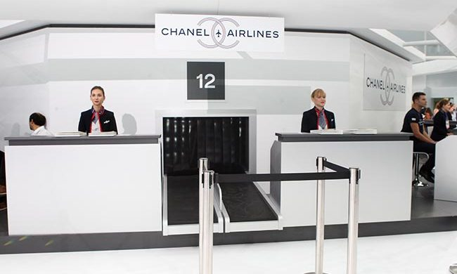 The Chanel Airlines counter.