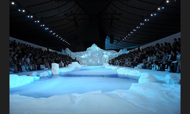 Guests were transported to Antarctica in Chanel's memorable ice kingdom for the AW10 show.