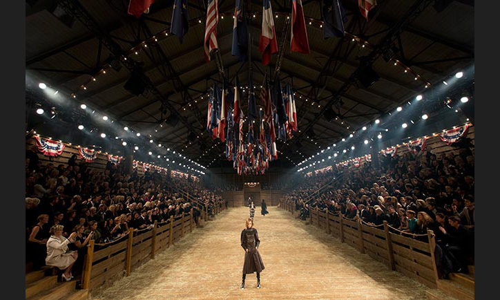 Guests were transported to the Wild West for the Chanel Metiers d'Art show in Dallas in 2013.