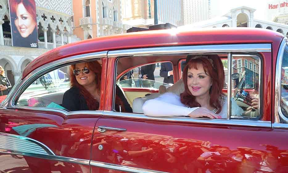Naomi Judd and her daughter, Wynonna, arrive at the Venetian Hotel in style to to kick off a nine-day Las Vegas residency on Oct. 10.  