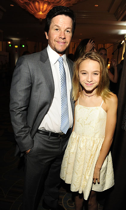 Mark Wahlberg and his 12-year-old daughter Ella strike a pose at Operation Smile's 2015 Smile Gala in Beverly Hills.