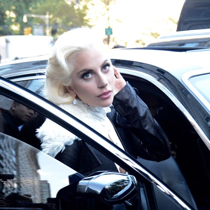 'American Horror Story: Hotel' star Lady Gaga makes a chic getaway after promoting the latest series of the scary drama in New York.