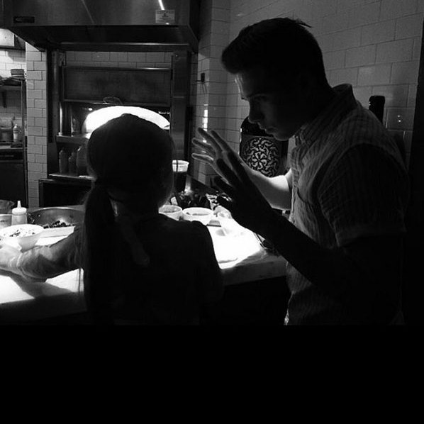 "Brooklyn Beckham: ""Making pizza with my little sister""
