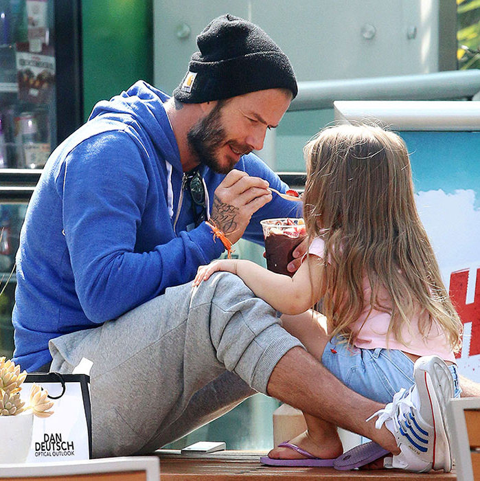 An ice cream date with daddy.