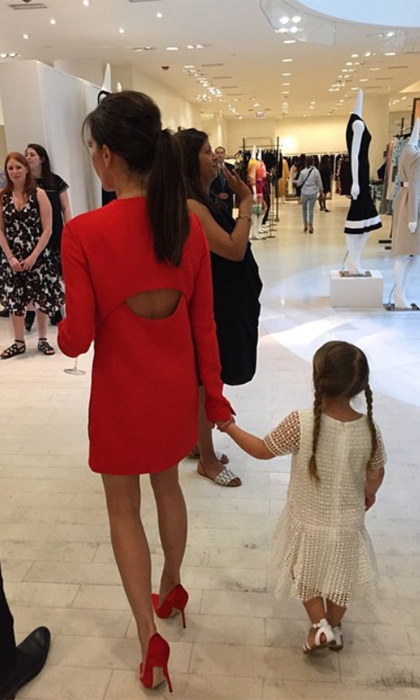 "Victoria visting Barneys in LA with her little ""best friend"".