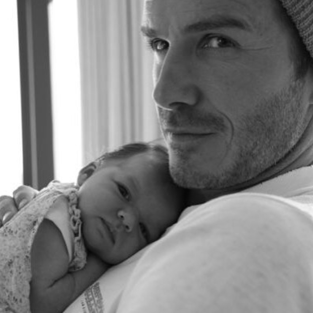 "David shared this adorable photo to mark Harper turning four, writing: ""Possibly my favourite picture of Harper of all time... 4 beautiful years with the most amazing little girl... Happy birthday big girl... ""