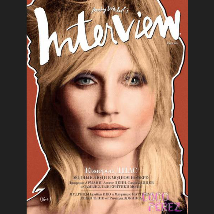 Cameron Diaz meets David Bowie and Debbie Harry? The actress covered Interview Russia's March 2013 issue.